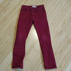 Boys red Levi's 510 skinny jeans size 14